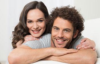 Portrait of smilling couple.