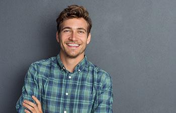 Young handsome man. Marietta GA Orthodontics.