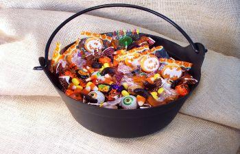 basket with Halloween sweets